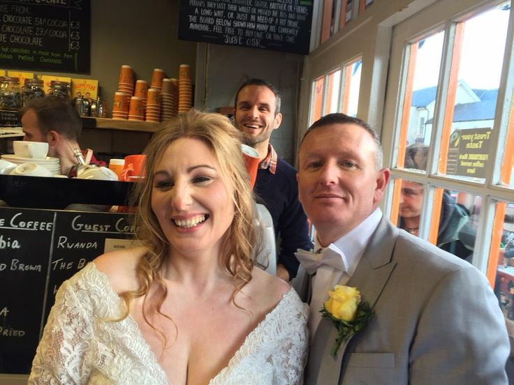 Just had a Paul & Laura stop in on their wedding day for hot chocolates! An honour to be a part of your big day