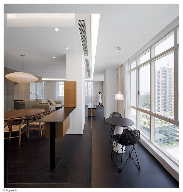 Office Office Design Small Spaces   Laundry Room Wu Residence / Neri Hu  Design And Reserch Office Great Idea For Adding Colour And Separate.