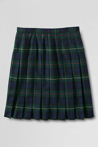 Lands' End Women's Plaid Pleated Skirt (Below The Knee) on shopstyle.com.au