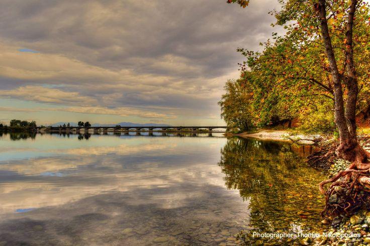 Macedonioa, River Aliakmonas' Dam.... Φράγμα Αλιάκμονα...  Photo by Thomas Nikolopoulos — in Veria, Imathia, Macedonia Greece.