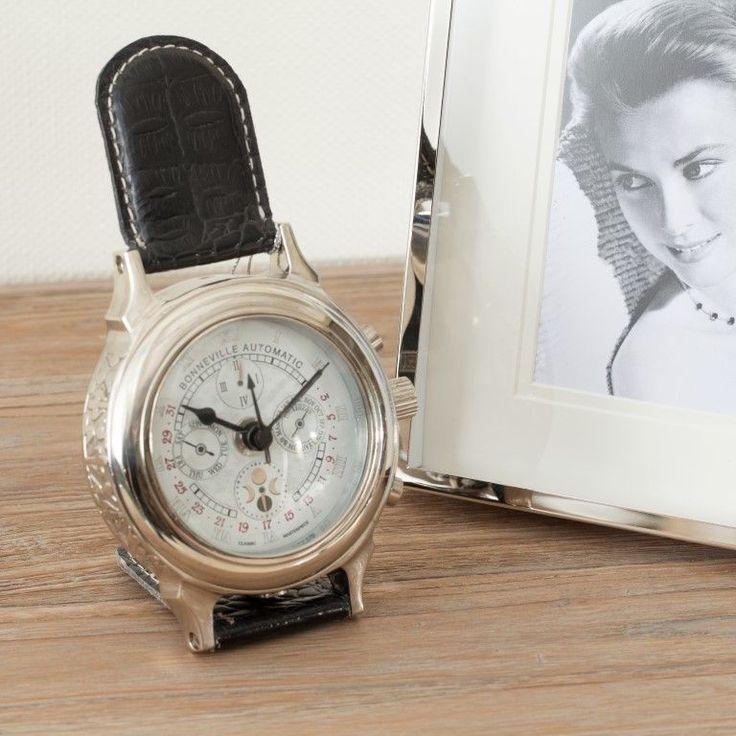 #zegar #clock #watch #decoration #dekoracje  #home #interior #design #ideas Zegarek stojący Bonneville, fi10x16cm - Dekoria