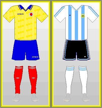 Partido COLOMBIA vs ARGENTINA,  ida 15 de Agosto 1993: 2-1 vuelta 5 de Septiembre 1993: 5-0