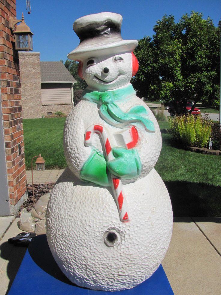 40 Union Snowman Vtg Xmas Blowmold Light