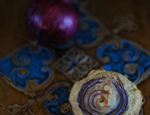muffin salato con cipolla