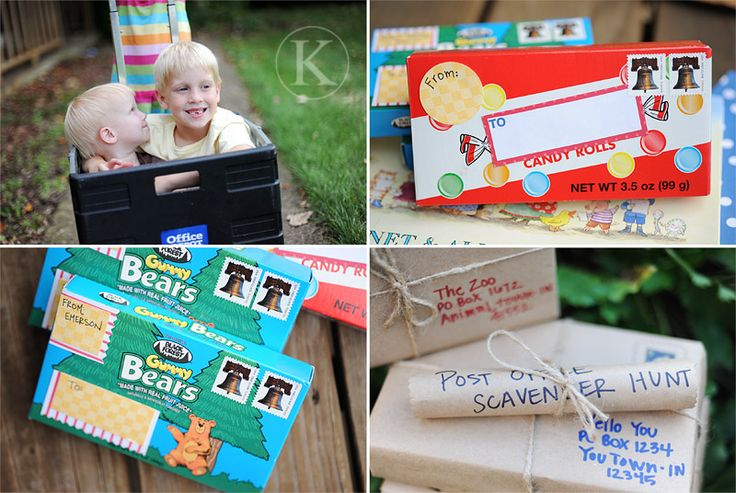 Send Candy in the MailGummy Bears, Candies Boxes, Edible Post, Zoos Boxes, Adorable Theme, Fun Mail, Ideas Post, Fun Things, Snails Mail