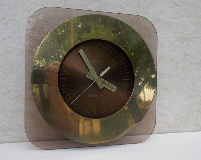 Modernist Kienzle Germany clock, metal,plastic clock, working clock, wall clock, unique clock, rare clock, gift idea, old, vintage, retro