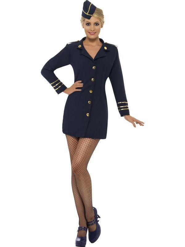 Women's Flight Attendant Costume