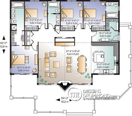 12 best Plan de maison images on Pinterest House floor plans