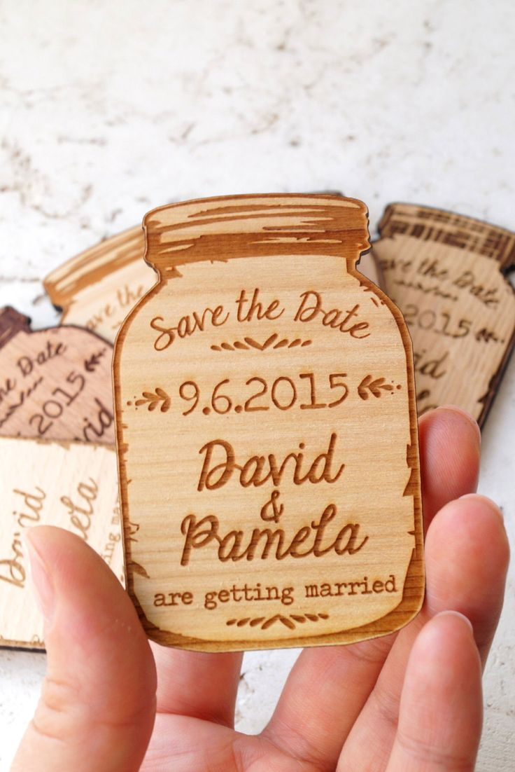The cutest and most convenient way to save the date? These wood magnets.