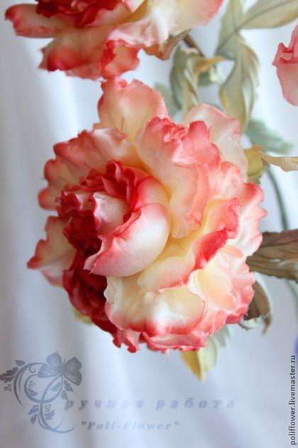 """Букет роз """"Non dimenticare"""". Натуральный шелк. - коралловый,солнце,цветы ручной работы"""