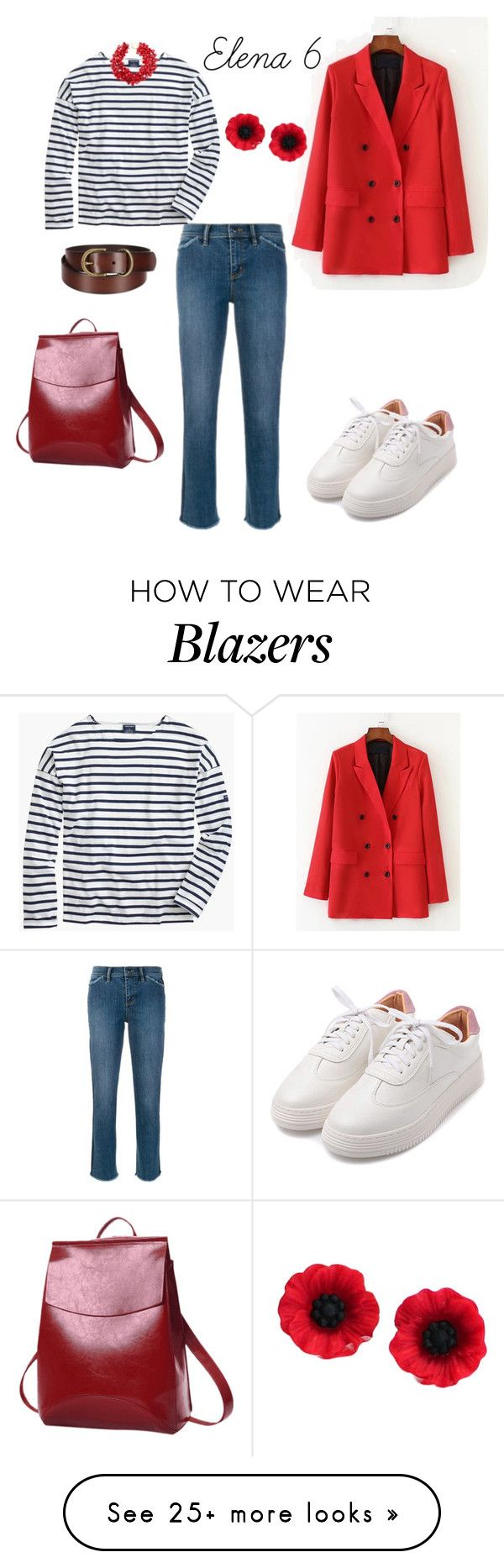 """""""Elena_6"""" by leila-image-style on Polyvore featuring Tory Burch, Saint James, Kenneth Jay Lane and Uniqlo"""