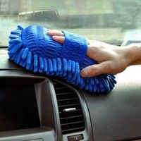 Wish | Car Hand Soft Towel Microfiber Chenille Washing Gloves Coral Fleece Gloves Auto (Size: random) (Size: Color randomly)