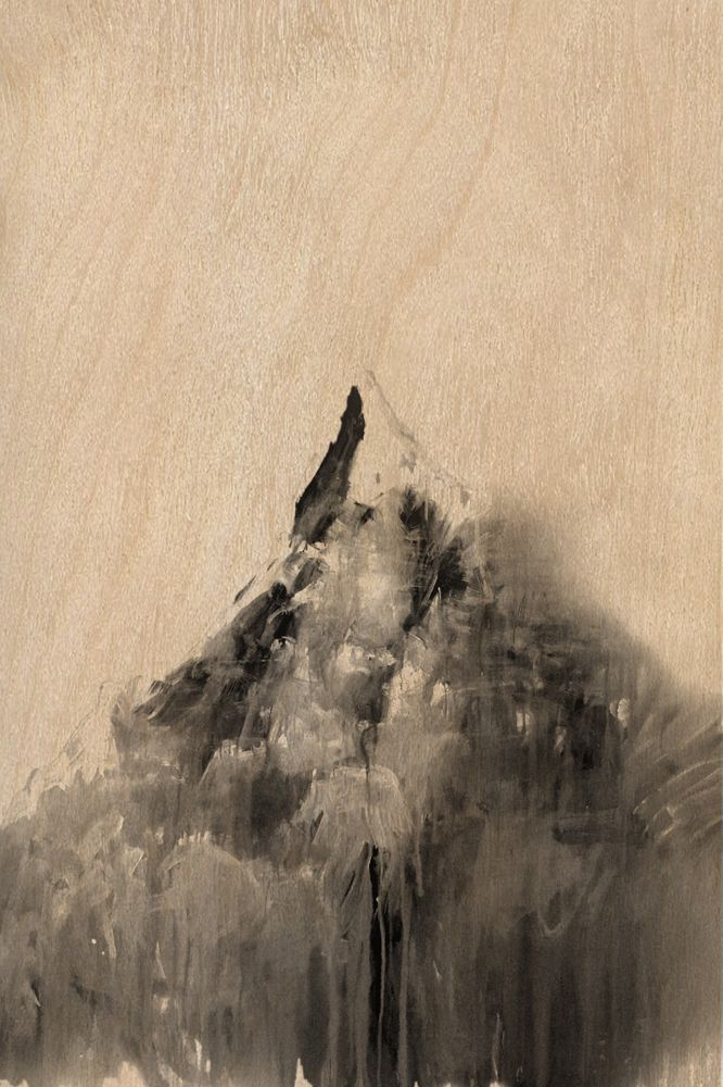 Little mountain, Unique artwork made by artist Giorgos Vavilousakis, Digital print on plywood