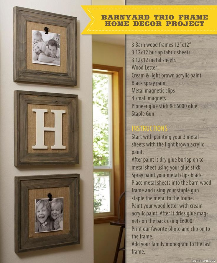 Barnyard trio frames family home decor country diy interior crafts