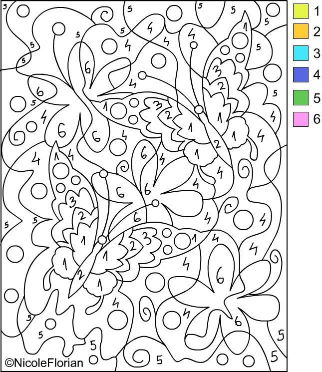 Beautiful Printable Color By Number For Adults | Free Printable Color By Number Pages  For Adults