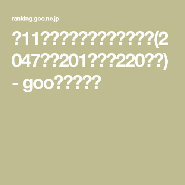【11ページ目】ランキング一覧(2047件中201件目~220件目) - gooランキング
