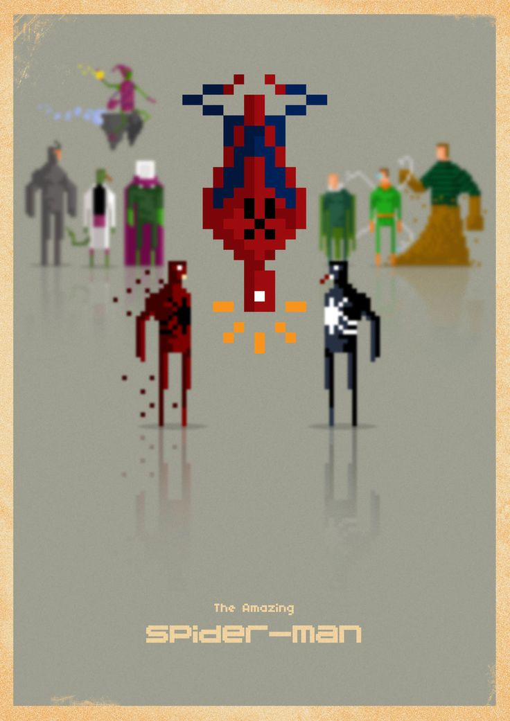 Spider-Man 8-bit by ~capdevil13 (Many more on his Deviantart Gallery!)