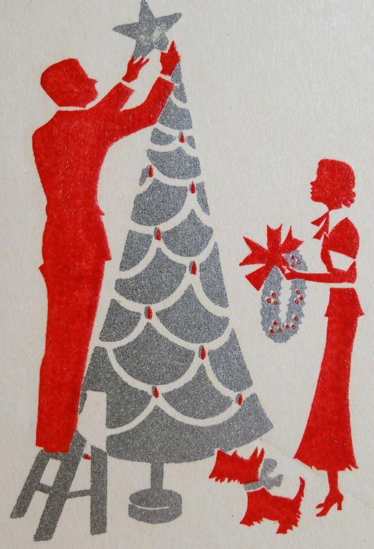 art deco christmas card holiday pinterest. Black Bedroom Furniture Sets. Home Design Ideas