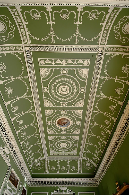Plaster Ceiling  Robert Adam - Headfort House. I produced the paint colours following the analysis of that great man Richard Ireland. http://patrickbaty.co.uk/?p=3366