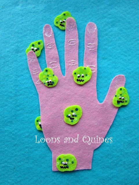 "Cute Germ song and craft for the kids to learn for ""Hygiene"" lesson plan"