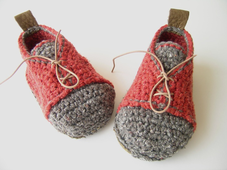 Boot-laced Booties Made for Walking - Toddler U.S. sizes 3-13. $45.00, via Etsy.