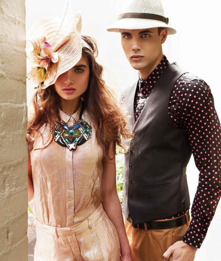 Pair simple tones with statement jewellery #RacingStyle #SpringCarnival #racewear