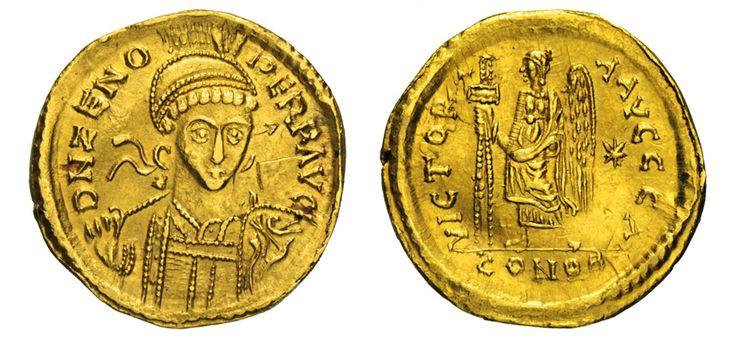 NumisBids: Numismatica Varesi s.a.s. Auction 67, Lot 141 : - TEODORICO (496-523) Solido a nome di Zeno. D/ Busto frontale...