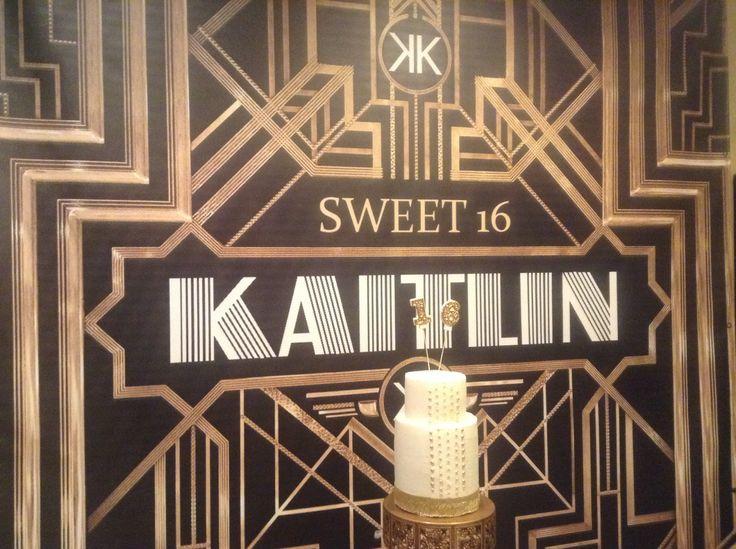 Kaitlin's Sweet 16 Great Gatsby Cake | Kaitlin's Sweet 16 Gatsby Party | Pinterest | 16, Sweet ...