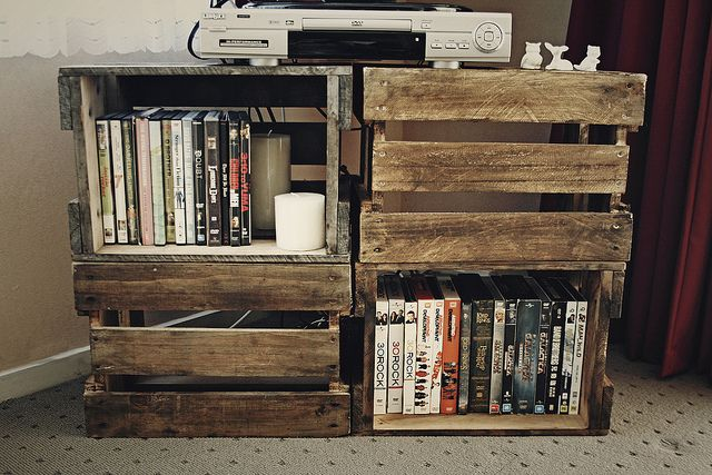 crates!: Diy'S, Diy Tv Stand From Pallets, Crate Tv Stand, Tvs, Tv Stands, Crates Tv