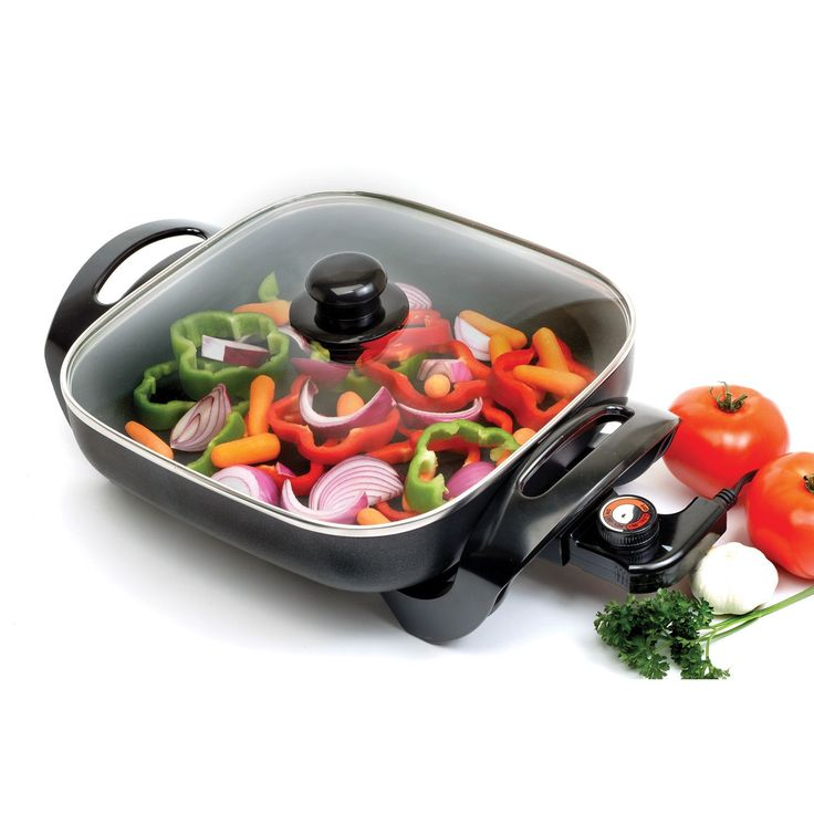 Every kitchen needs a versatile electric skillet. Nonstick skillet provides supreme cooking power for stir fry, grilling, and even roasting Skillet offers convenient cool-touch handles and knobs for e