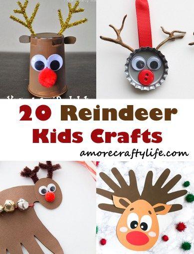 reindeer kid crafts - rudolph kid craft - christmas kid craft