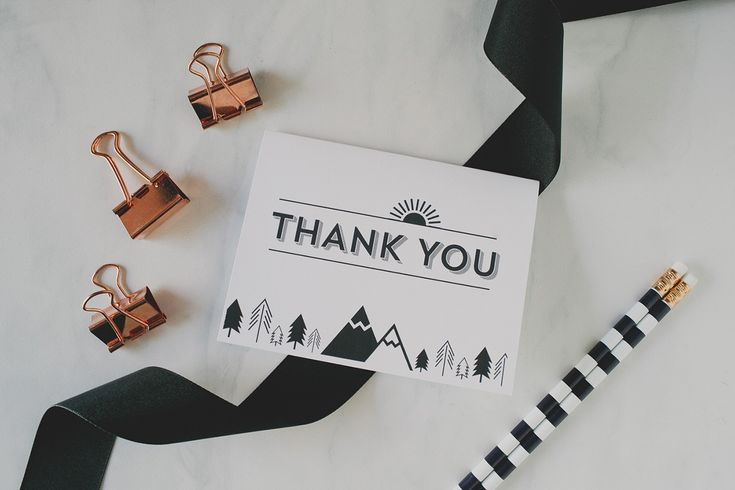 Printable Thank You Cards for your wedding by Avery - forest theme