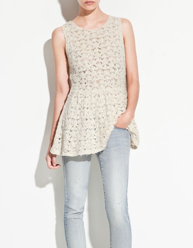 SWEATER WITH FRILLED HEM - Knitwear - TRF - ZARA United States: Simply Style, Frill Hemmings, Camisola Folho, Fashion Inspiration, U.S. States, Zara United States, Perfect Outfits