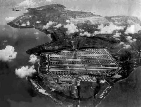 Tinian airfields.