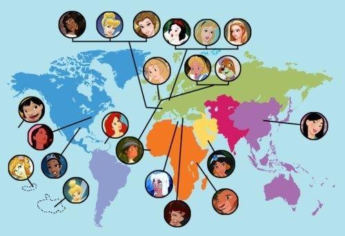 #DisneyPrincesses on Earth