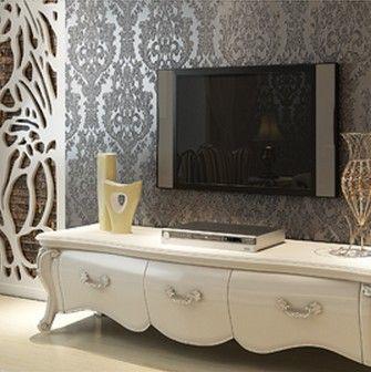92 best living room images on pinterest living room for Glitter wallpaper for bedroom