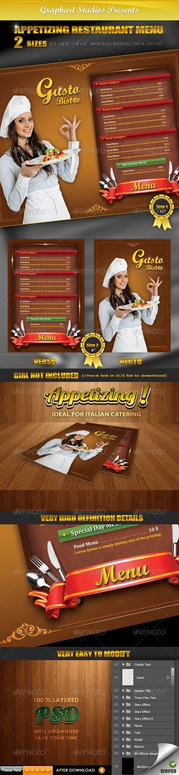 Best Menu Italian Images On   Print Templates Food