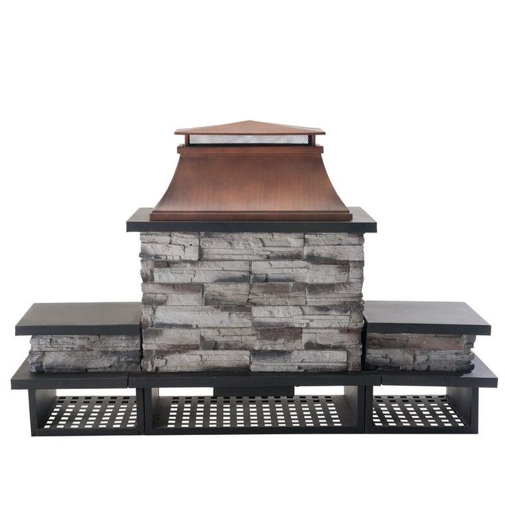 Quillen Steel Wood Burning Outdoor Fireplace in 2020 ... on Quillen Steel Wood Burning Outdoor Fireplace id=31909