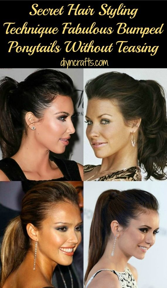 Wow! Easy 3 minute guide on how to create fabulous bumped ponytails without bump-it or teasing.