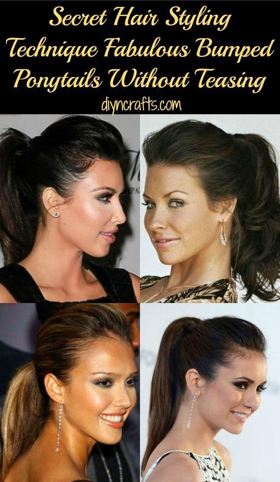 Secret Hair Styling Technique – Fabulous Bumped Ponytails Without Teasing
