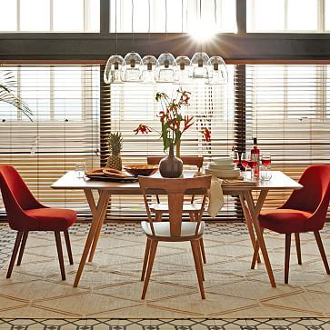 West Elm Dining Table, obviously update of Ilmari Tapiovaara Pirkka table. #westelm #midcentury #artek
