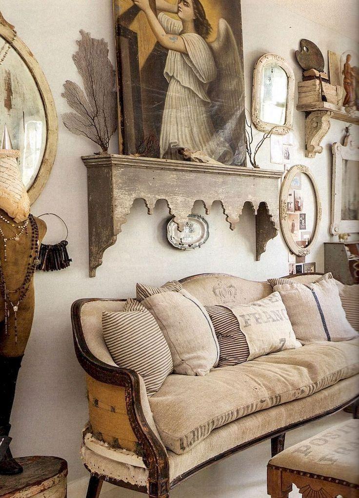 32 Gorgeous French Farmhouse Living Room Design Ideas
