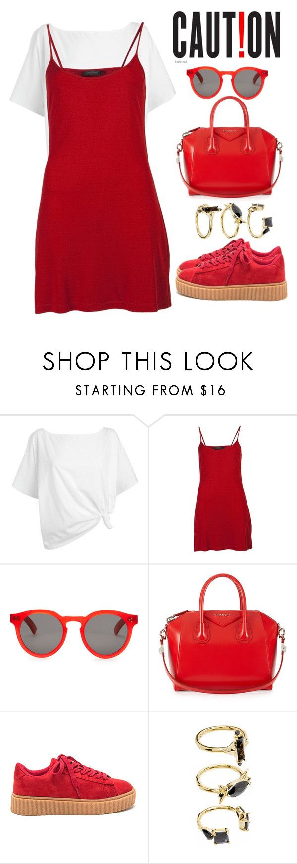 """""""My Creepers"""" by sally92 on Polyvore featuring moda, Red Herring, Calvin Klein, Illesteva, Givenchy e Noir Jewelry"""