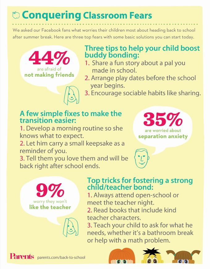 How to conquer your child's top 3 classroom fears! Great to know for back-to-school.Back To Schools,  Website, Conquers Classroom, Schools Elementary, Classroom Fear, Grandkids Ideas, Schools Survival, Schools Essential, Schools Secret