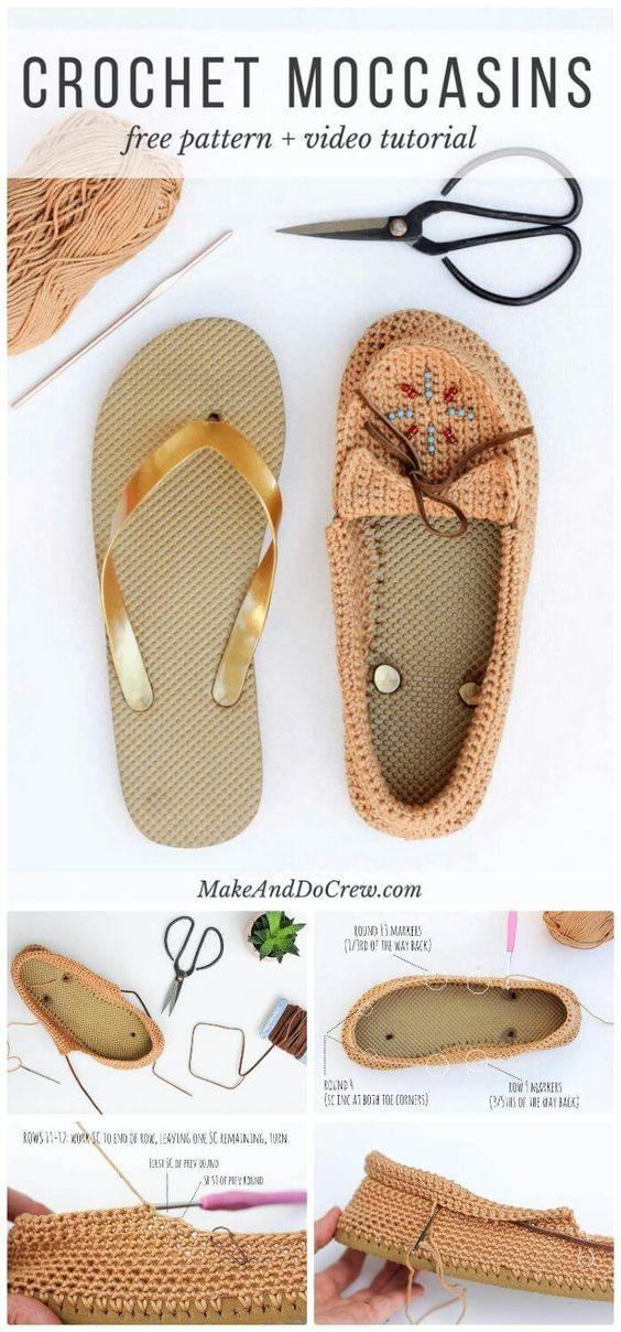 9caeb7da5 22 Crochet Slippers   Boot   Shoes   Flip Flops - Free Patterns ...