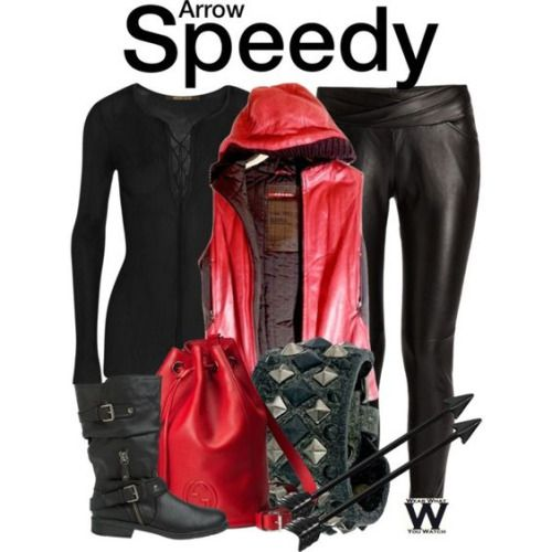 Wear What You Watch • Inspired by Willa Holland as Speedy on Arrow -...