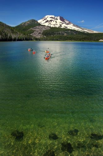 I must look into this while I'm in Bend. Kayak Tour of Sparks Lake, Bend, OR