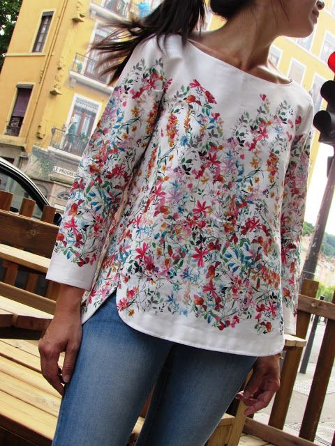 "Cézembre Blouse ""Flowers"": Mydress-made 7Euros"