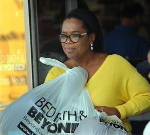 TV talk show queen Oprah Winfrey emerges from Bed Bath and Beyond in Framingham with several bags after a one-hour shopping excursion this afternoon. Winfrey was seen in the store shopping with three teenage girls, accompanied by an entourage adult companions and security. A driver in a black SUV then whisked Winfrey and friends away.Girls, Favorite Things, One Hour Shops, Internet Shops, Entourage Adult, Black Suv, Beds Bath, Winfrey, Adult Companion