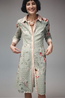Bloomed Eyelet Shirtdress - anthropologie.com
